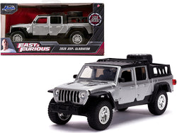 "2020 Jeep Gladiator Pickup Truck Silver with Black Top ""Fast & Furious"" Movie 1/32 Diecast Model by Jada"
