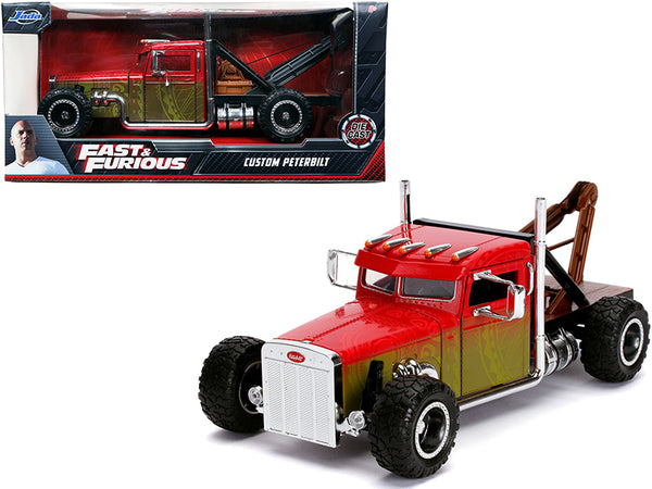 "Custom Peterbilt Tow Truck ""Fast & Furious"" Series 1/24 Diecast Model by Jada"