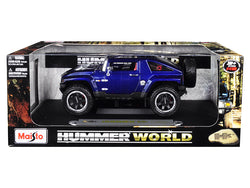 "Hummer HX Concept Dark Blue Metallic ""Hummer World"" 1/18 Diecast Model Car by Maisto"