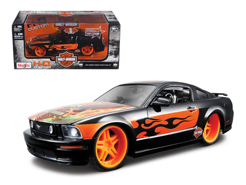 "2006 Ford Mustang GT ""Harley Davidson"" Black With Eagle 1/24 Diecast Model Car by Maisto"