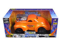 "1941 Willys Coupe Metallic Orange ""Muscle Machines"" 1/18 Diecast Model Car by Maisto"