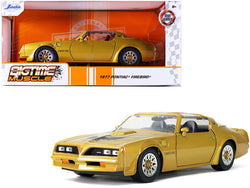 "1977 Pontiac Firebird Trans Am T/A Gold with Hood Bird ""Bigtime Muscle"" 1/24 Diecast Model Car by Jada"