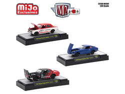 Auto Japan Nissan / Datsun (3 Car Set) 1/64 Diecast Models by M2 Machines