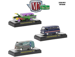 Wild Cards Release #13 (3 Car Set) WITH CASES 1/64 Diecast Models by M2 Machines