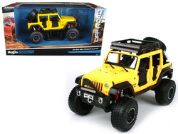 2015 Jeep Wrangler Unlimited Yellow Off Road Kings 1/24 Diecast Model Car by Maisto