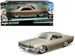 "1966 Lincoln Continental Gold ""Classic Muscle"" 1/26 Diecast Model Car by Maisto"
