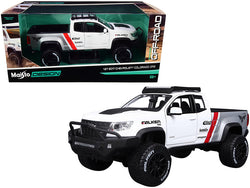 "2017 Chevrolet Colorado ZR2 Pickup Truck ""Falken Tires"" White and Silver 1/27 Diecast Model by Maisto"