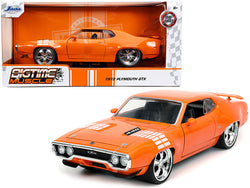 "1972 Plymouth 440 GTX Orange with White Graphics ""Bigtime Muscle"" 1/24 Diecast Model Car by Jada"