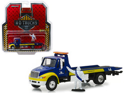 "International Durastar Flatbed ""Michelin"" with Michelin Man Figure ""H.D. Trucks"" Series #15 1/64 Diecast Model by Greenlight"