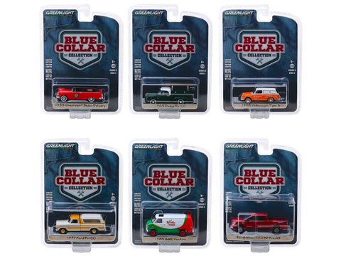 """Blue Collar Collection"" Series #5 (6 Piece Set) 1/64 Diecast Models by Greenlight"