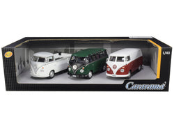 Volkswagen Buses (3 Piece Set) 1/43 Diecast Models by Cararama