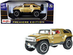 "Hummer HX Concept Gold Metallic ""Premiere Edition"" 1/18 Diecast Model Car by Maisto"
