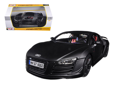 Audi R8 GT Matte Black 1/18 Diecast Model Car by Maisto