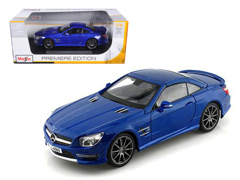 2012 Mercedes SL 63 AMG Blue 1/18 Diecast Model Car by Maisto