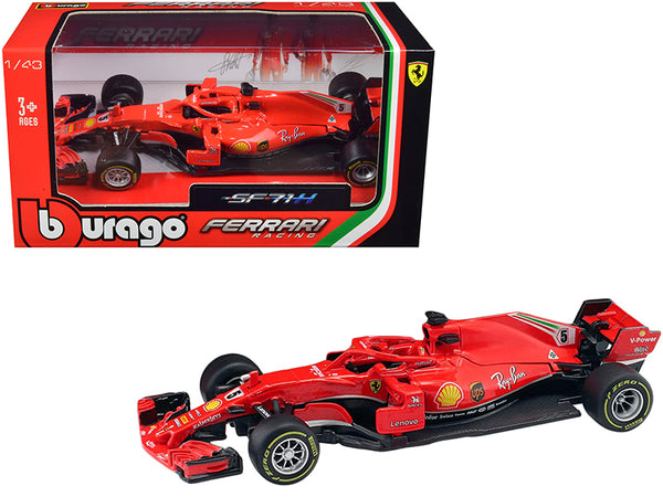 Ferrari Racing SF71H #5 Sebastian Vettel F1 Formula One Car 1/43 Diecast Model Car by Bburago