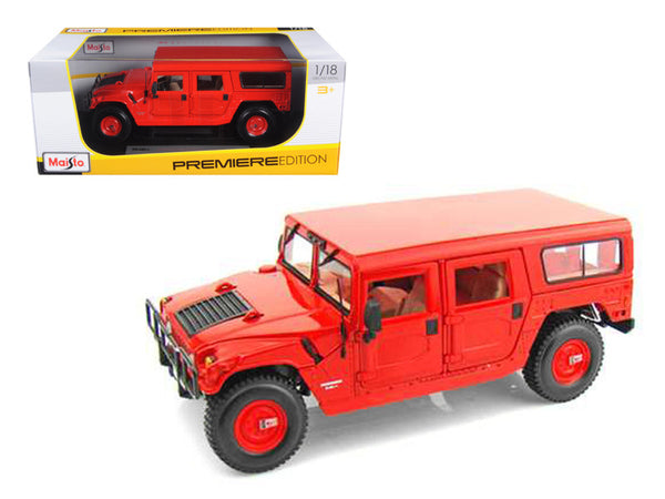 Hummer H1 Wagon Red 1/18 Diecast Model Car by Maisto