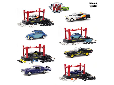 """Model Kit"" Release #18 (4 Car Set)1/64 Diecast Models by M2 Machines"