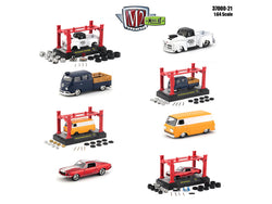Model Kit Release #21 (4 Car Set) 1/64 Diecast Models by M2 Machines