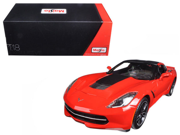 2014 Chevrolet Corvette Stingray C7 Z51 Red Exclusive Edition 1/18 Diecast Model Car by Maisto