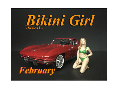 """February Bikini Calendar Girl"" Figure for 1/18 Scale Diecast Models by American Diorama"