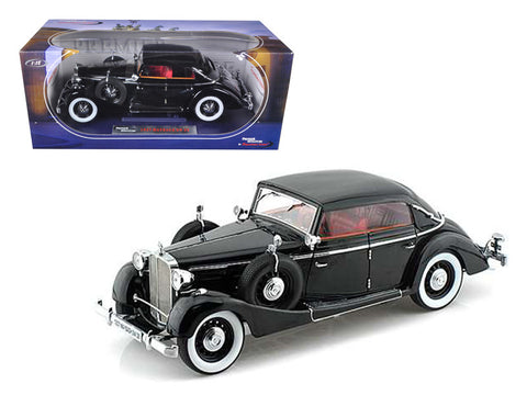1937 Maybach SW38 Spohn 4 Doors Convertible Black 1/18 Diecast Model Car by Signature Models