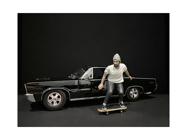 """Skateboarder"" Figure #2 for 1/18 Scale Models by American Diorama"
