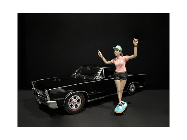 """Skateboarder"" Figure #4 for 1/18 Scale Models by American Diorama"