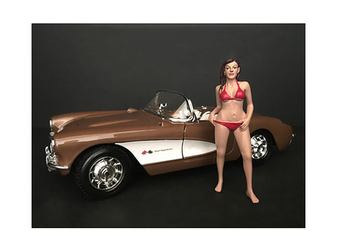 """October Bikini Calendar Girl"" Figure for 1/18 Scale Diecast Models by American Diorama"
