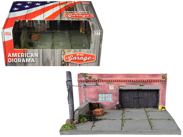 """My Old Garage"" Resin Diorama for 1/64 Scale Models by American Diorama"