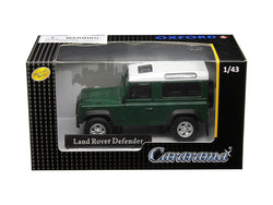 Land Rover Defender Dark Green 1/43 Diecast Model Car by Cararama