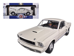 1965 Ford Shelby Mustang GT350R Prototype Wimbledon White 1/24 Diecast Model Car by M2 Machines