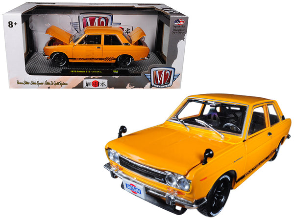 "1970 Datsun 510 Bronze Yellow  ""Auto-Japan"" 1/24 Diecast Model Car by M2 Machines"