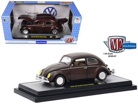 1952 Volkswagen Beetle Deluxe Pearl Brown Limited Edition to 5,800 pieces Worldwide 1/24 Diecast Model Car by M2 Machines