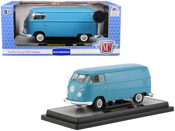 1960 Volkswagen Delivery Van Dove Blue Limited Edition to 5,880 pieces Worldwide 1/24 Diecast Model by M2 Machines