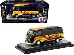 "1960 Volkswagen Delivery Van Black Pearl ""Kelly Crazy Painter"" Limited Edition to 6,880 Pieces Worldwide 1/24 Diecast Model by M2 Machines"