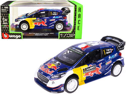 "2017 Ford Fiesta M-Sport WRC #1 Sebastien Ogier - Julien Ingrassia ""Red Bull Race Car"" Series 1/32 Diecast Model Car by Bburago"