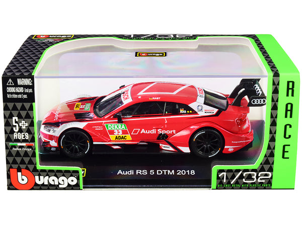 "Audi RS 5 #33 Rene Rast DTM Deutsche Tourenwagen Masters (2018) ""Race Car"" Series 1/32 Diecast Model Car by Bburago"