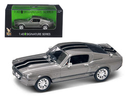 1967 Shelby Mustang GT 500E Grey Signature Series 1/43 Diecast Model Car by Road Signature