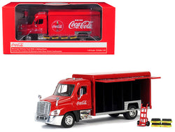 "Beverage Delivery Truck ""Coca-Cola"" with Handcart and 4 Bottle Cases 1/50 Diecast Model by Motorcity Classics"