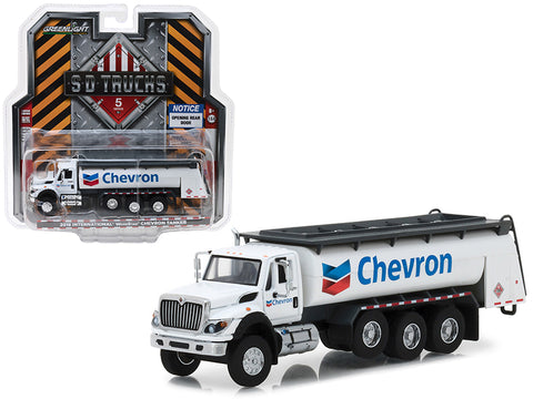 "2018 International WorkStar Tanker Truck ""Chevron"" White ""SD Trucks"" Series #5 1/64 Diecast Model by Greenlight"