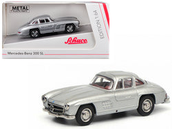 Mercedes Benz 300SL Gullwing Silver 1/64 Diecast Model Car by Schuco