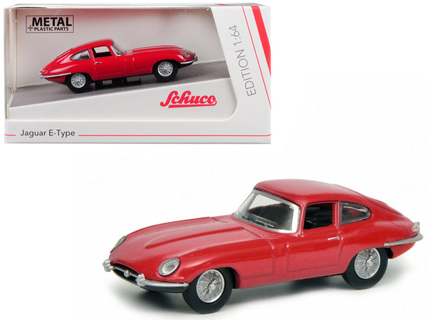 Jaguar E Type Coupe Red 1/64 Diecast Model Car by Schuco