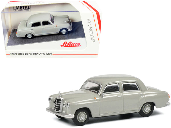 Mercedes Benz 180 D (W120) Ponton Gray 1/64 Diecast Model Car by Schuco