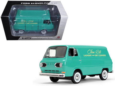 1960's Ford Econoline Van Clean-Rite Laundry and Dry Cleaners 1/25 Diecast Model by First Gear