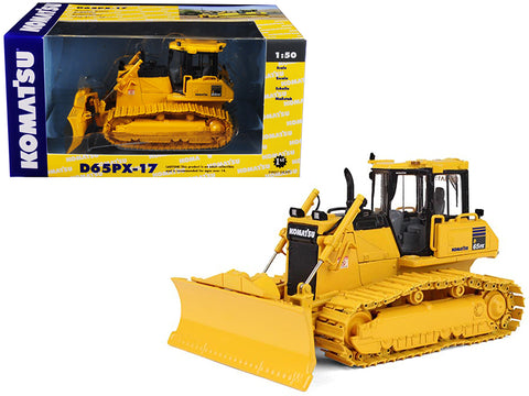 Komatsu D65PX-17 Dozer with Hitch 1/50 Diecast Model by First Gear