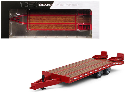 Beavertail Trailer Red 1/50 Diecast Model by First Gear