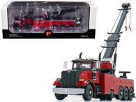 Peterbilt 367 Century 1060S Wrecker Tow Truck Black and Red 1/50 Diecast Model by First Gear