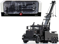 Peterbilt 367 Century 1060S Wrecker Tow Truck Black 1/50 Diecast Model by First Gear