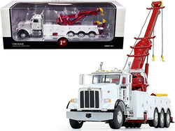 Peterbilt 367 Century 1060S Wrecker Tow Truck White 1/50 Diecast Model by First Gear