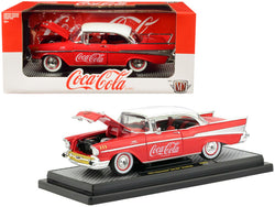 "1957 Chevrolet Bel Air Hardtop ""Coca-Cola"" Red Limited Edition to 9,600 pieces Worldwide 1/24 Diecast Model Car by M2 Machines"